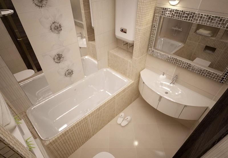 Дизайн ванной комнаты в стандартной квартире