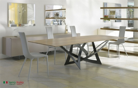 Стол и стулья Infinito Antracite